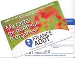 carte donneur organe
