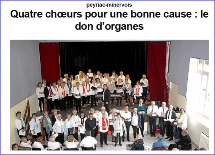 Une Chorale pour le don d'organes